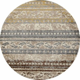 Read Reviews Hersom Beige Area Rug by Bloomsbury Market