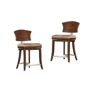 Villa 24 Swivel Bar Stool (Set of 2) World Menagerie