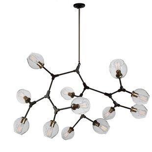 Artcraft Lighting Organic 12-Light Chandelier