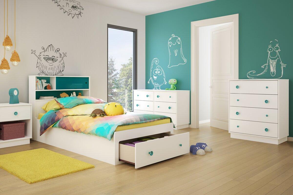 Little Monsters Twin Platform Configurable Bedroom Set. Kids Bedroom Sets