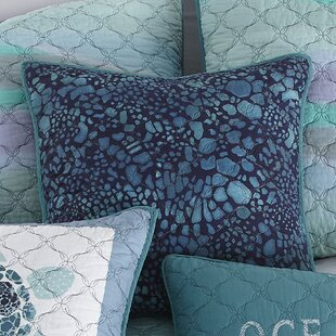 Fredette Ocean Print 100% Cotton Throw Pillow