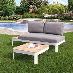 Thora 2 Piece Teak Sectional Set with Cushions