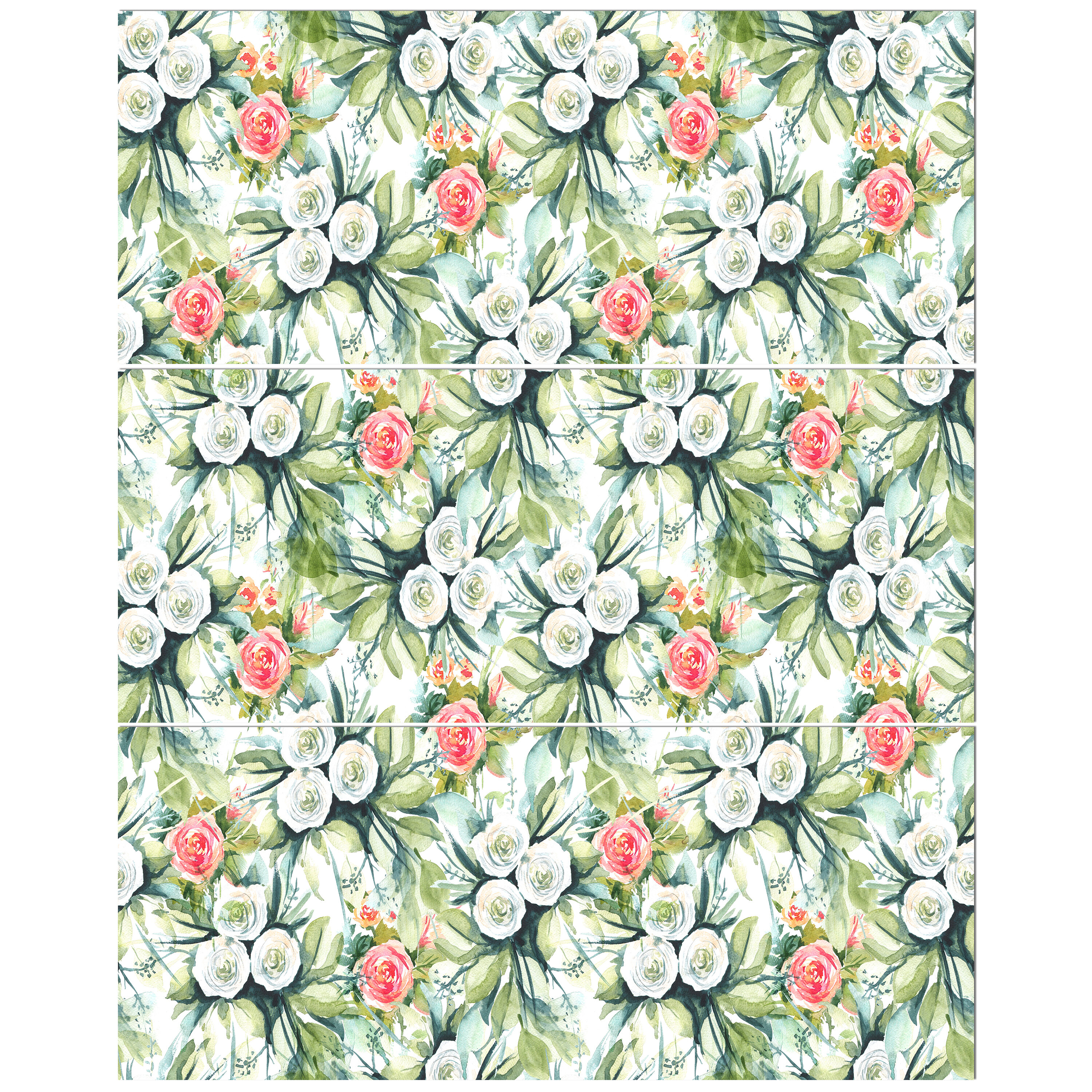 East Urban Home Floral Seamless Pattern Flower Background Oil