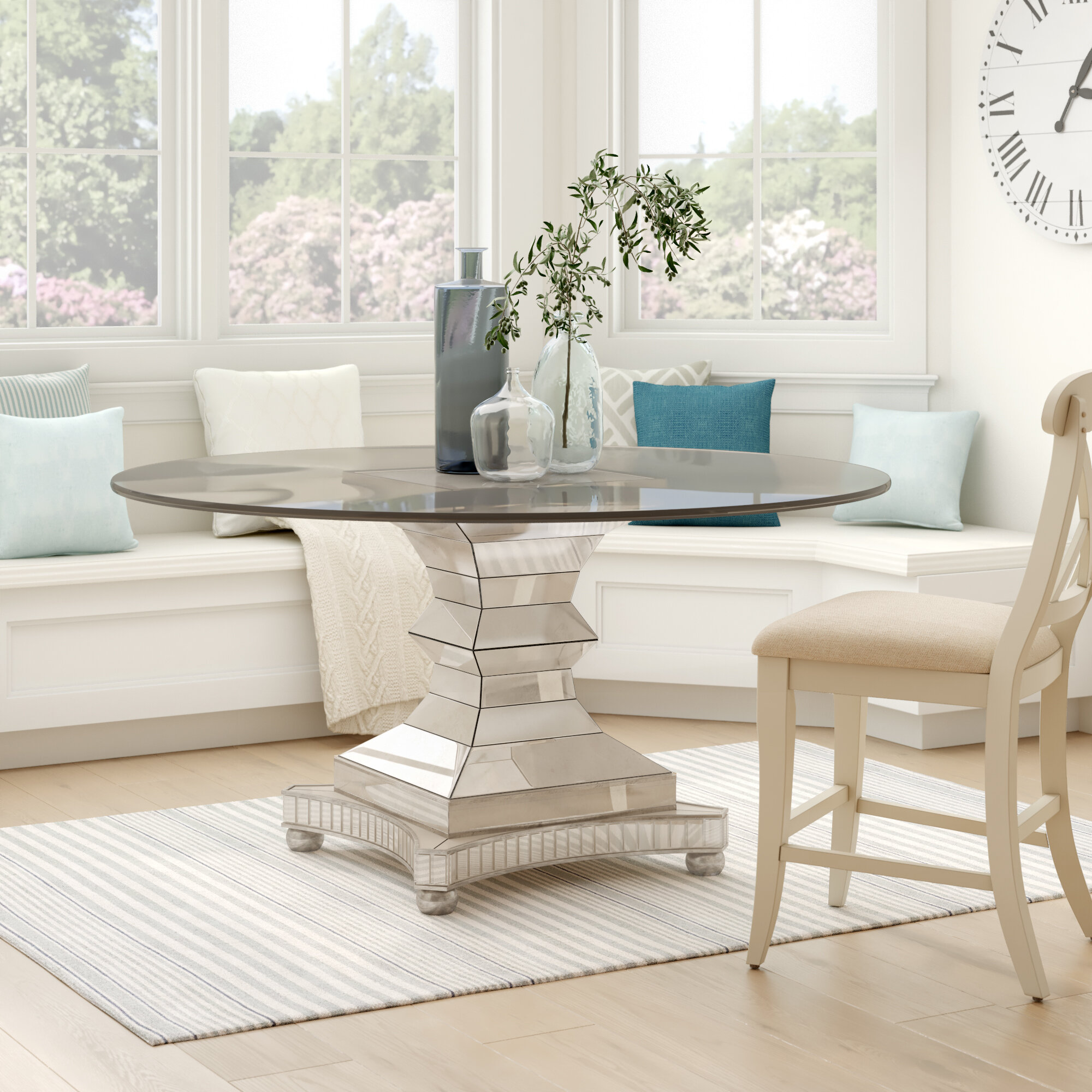 Picture of: 60 Inches Pedestal Kitchen Dining Tables You Ll Love In 2020 Wayfair