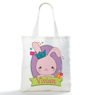Bunny Personalized Easter Picnic Tote Bag