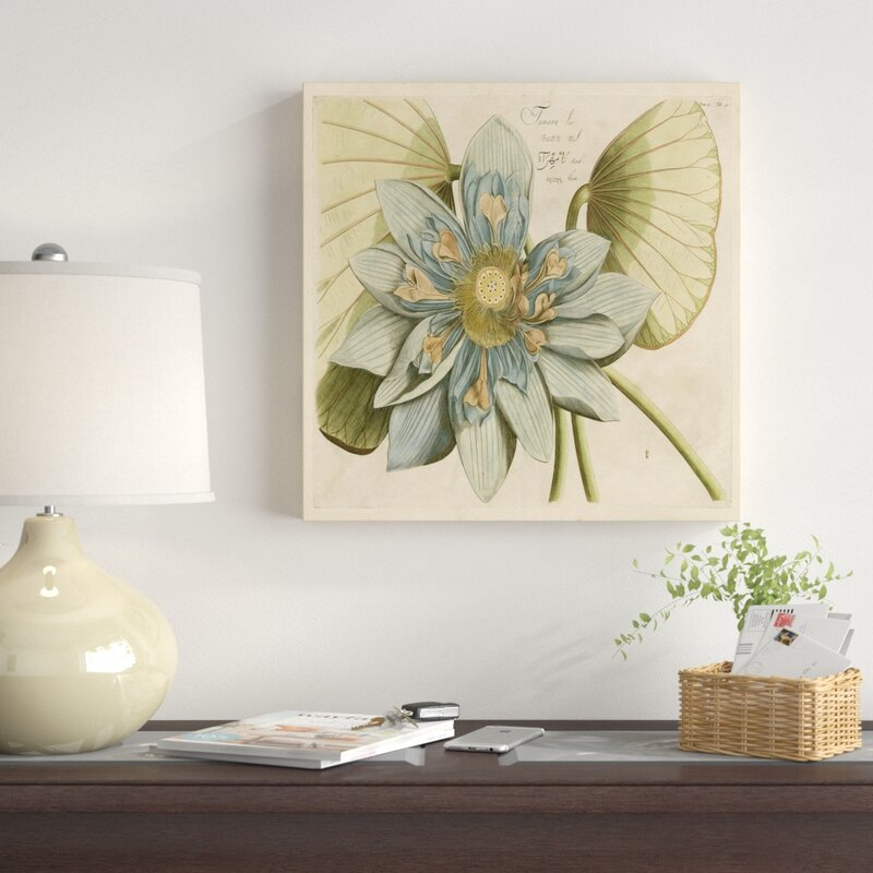 East Urban Home Blue Lotus Flower I Acrylic Painting Print On
