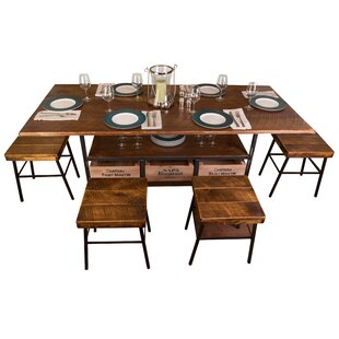 Farm 7 Piece Dining Table Vino Vintage
