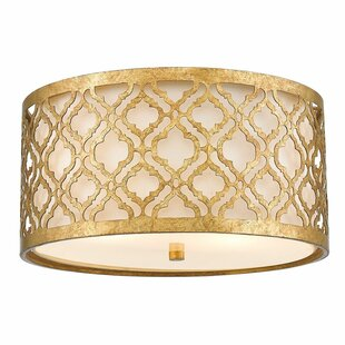 Everly Quinn Jonah 2-Light Flush Mount