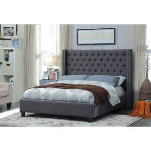Barna Upholstered Platform Bed by Alcott Hill