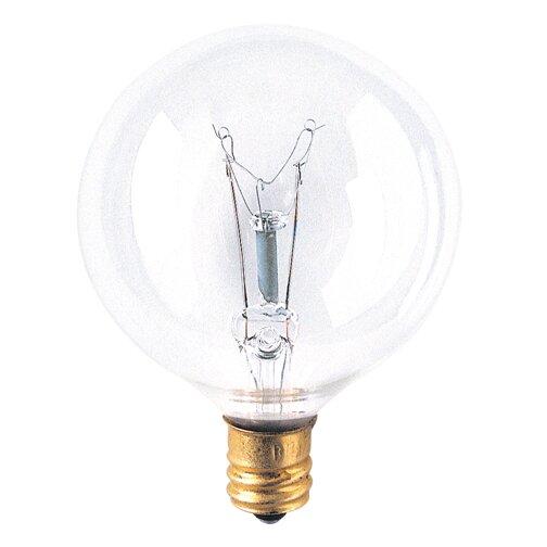 Bulbrite Industries 40 Watt G16 5 Incandescent Dimmable Globe Light Bulb 2700k E12 Candelabra Base Wayfair