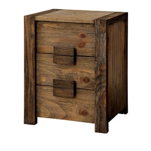 Bushman 3 Drawer Nightstand by Union Rustic