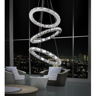 Orren Ellis Bacon 54-Light Crystal Chandelier