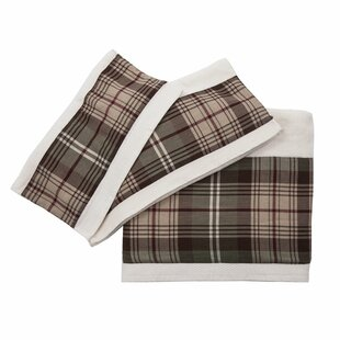Plaid 3 Piece Towel Set