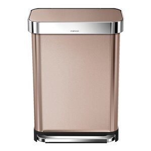 Awesome Stainless Steel 14.5 Gallon Step On Trash Can