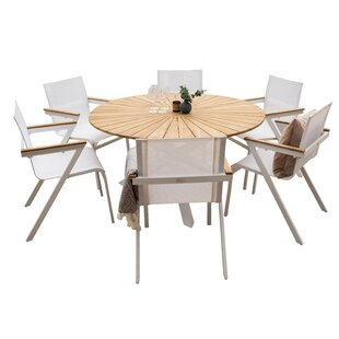 Review Anoki Dining Set With 6 Chairs
