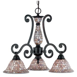 Pearl River 3-Light Shaded Chandelier by Classic Lighting