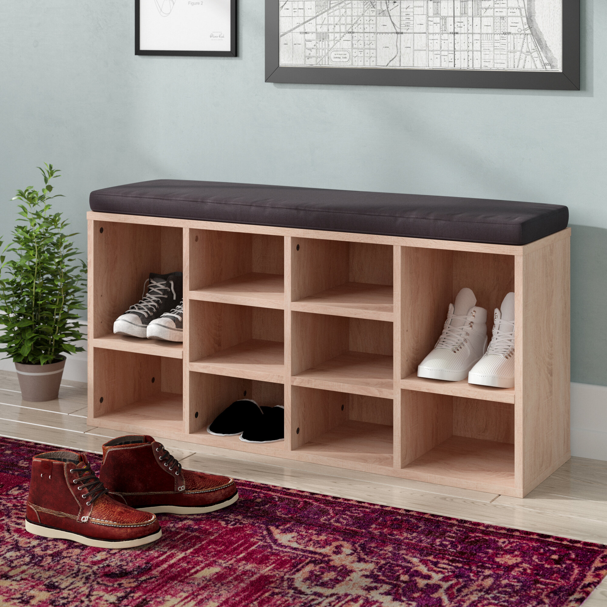 Latitude Run 10 Pair Shoe Storage Bench Reviews Wayfair