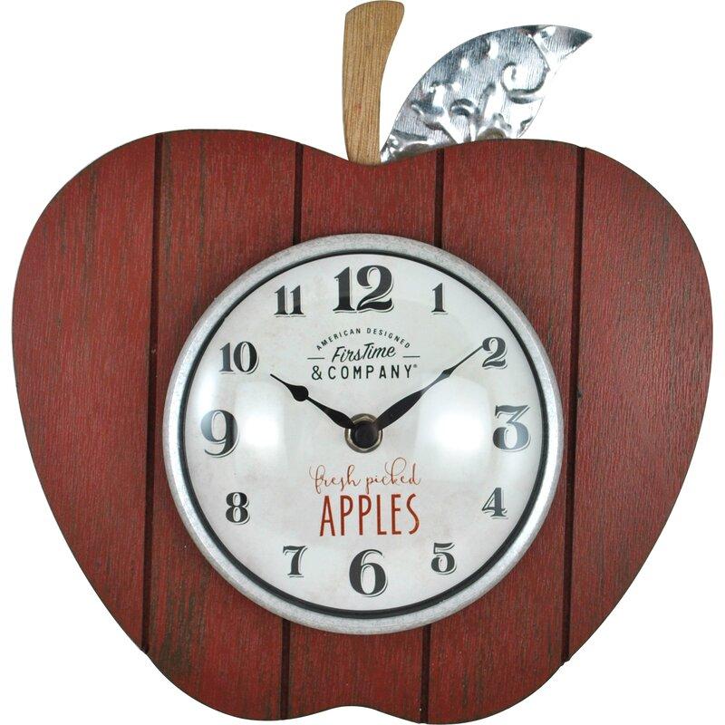 Firstime Apple Orchard Wall Clock Wayfair
