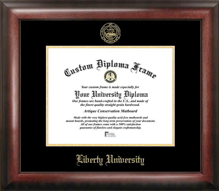 Campus Images Ncaa Liberty Flames Gold Embossed Diploma Frame Reviews Wayfair