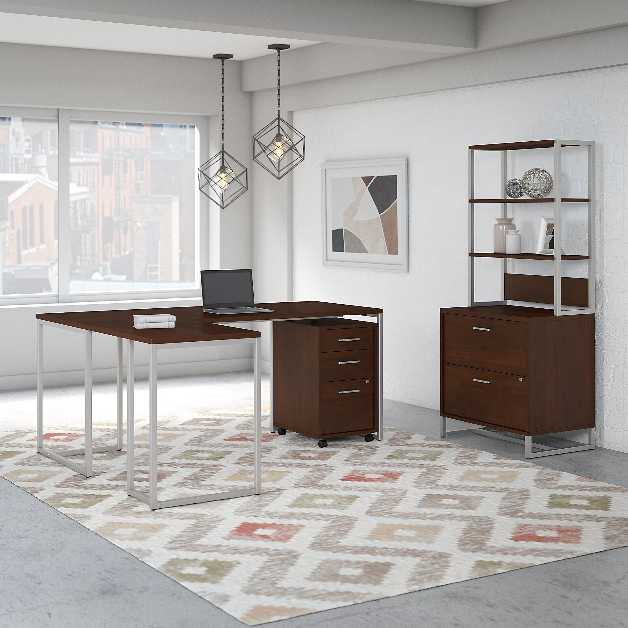 6 Piece Set Modern Contemporary Office Furniture Sets You Ll Love In 2021 Wayfair