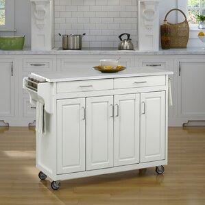 Regiene Kitchen Cart with Quartz Top by A..