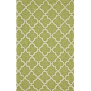 Hand-Tufted Green Indoor/Outdoor Area Rug