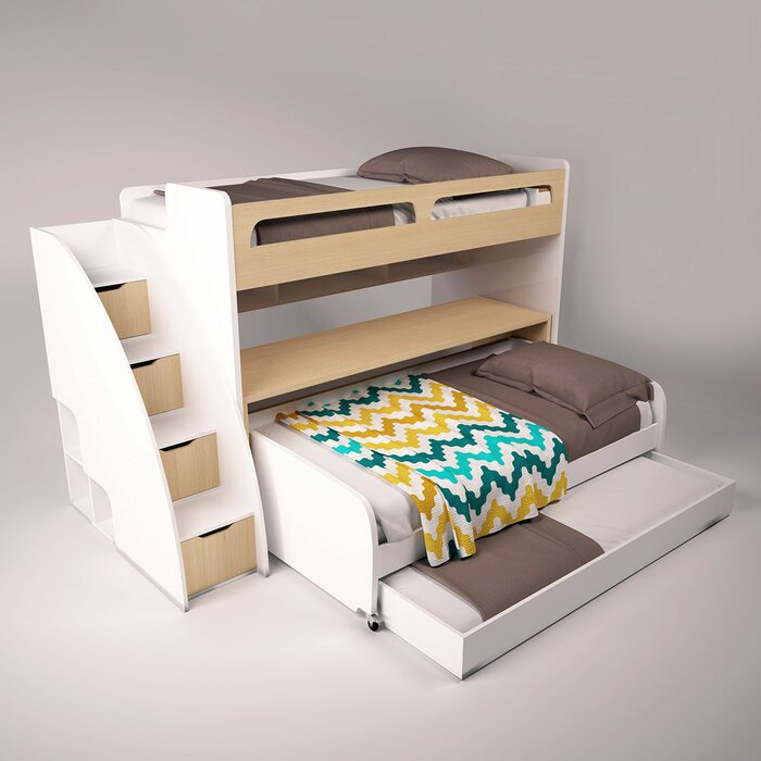 cheap for discount 6bae2 c8314 Gautreau Twin Futon Bunk Bed with Bookcase