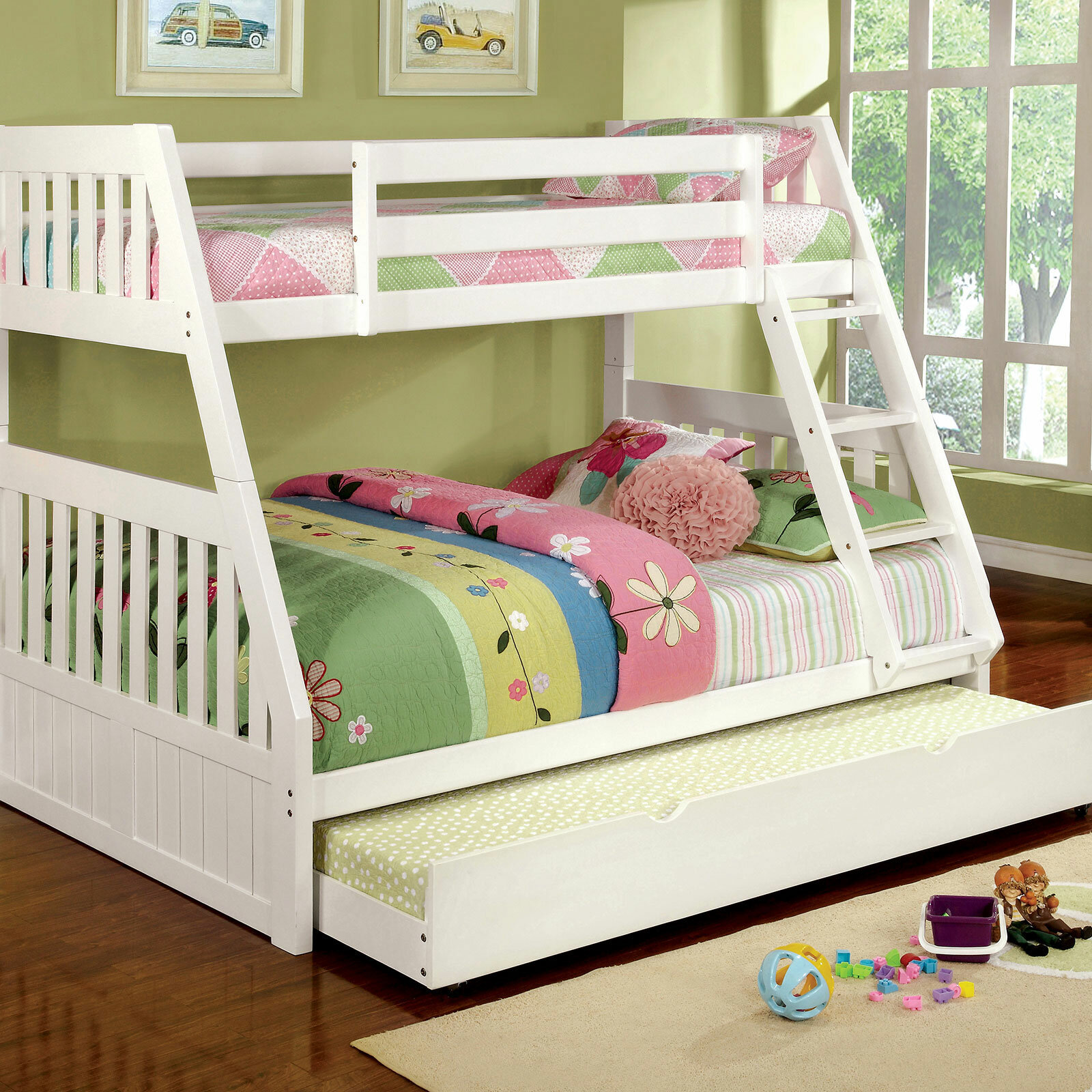Harriet Bee Fortuna Twin Over Full Bunk Bed Wayfair