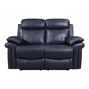 Asbury Leather Reclining Loveseat by Red Barrel Studio Sale