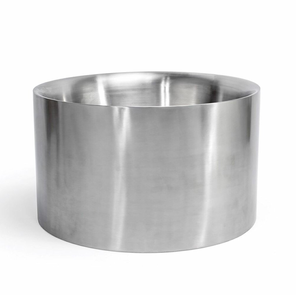 Front Of The House Soho Round Brushed Stainless Double Wall Beverage Tub Wayfair