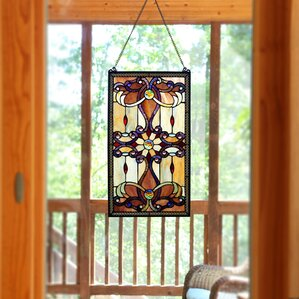 Ludington Tiffany Style Stained Glass Window /Wall Panel