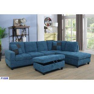 Dark Blue Denim Sectional Sofa | Wayfair