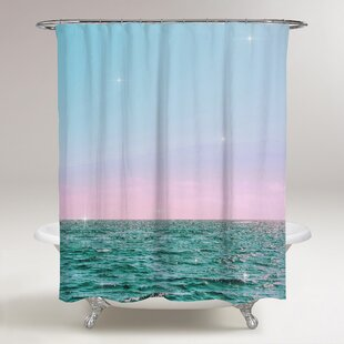 Lohan Pastel Twilight Horizon Single Shower Curtain