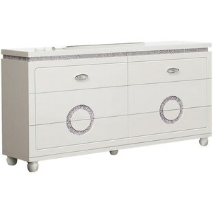 Keisha Wood 6 Drawer Double Dresser