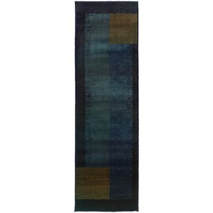 Hinson Blue/Gold Indoor/Outdoor Area Rug