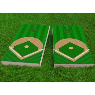 Custom Cornhole Boards Baseball Diamond Cornhole Game (Set of 2)