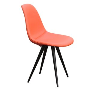 Schillinger Pop Genuine Leather Upholstered Dining Chair by Wrought Studio