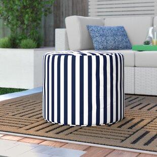 Gholston Striped Outdoor Pouf Ottoman by Ebern Designs