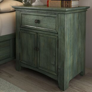 Woodside 1 Drawer Nightstand by Three Posts