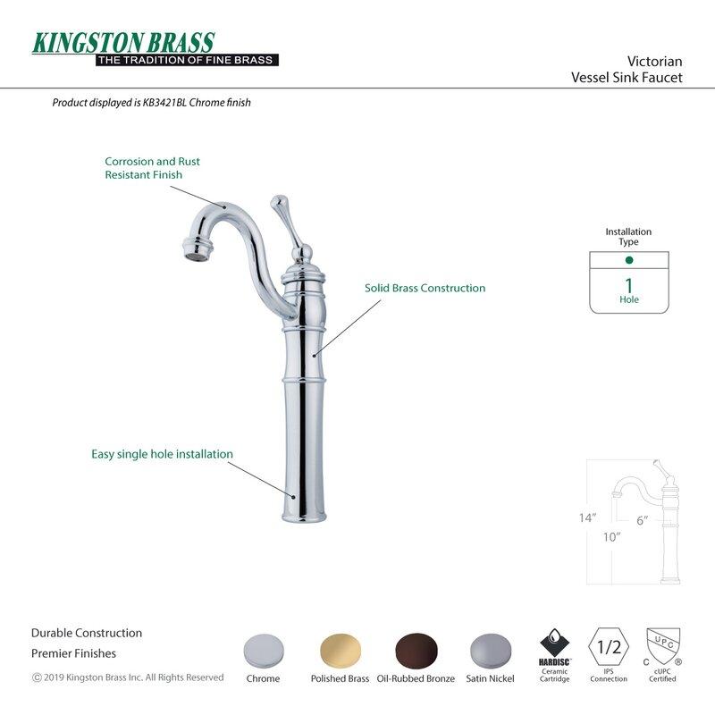 Kingston Br Victorian Vessel Sink Faucet Reviews Wayfair
