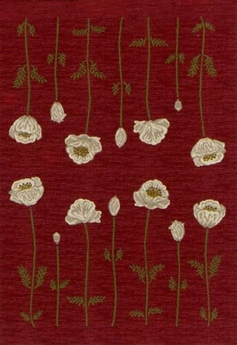 Winston Porter Rische Floral Tufted Red Area Rug Reviews Wayfair