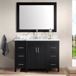Comparison Hollandale 49 Single Sink Vanity Set with Mirror By Ariel Bath