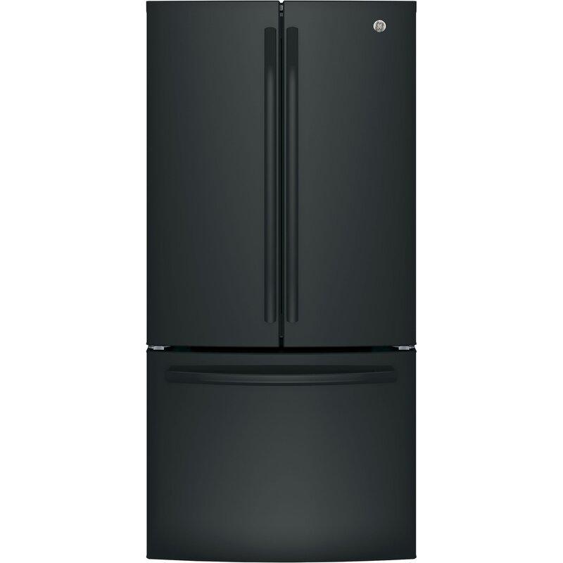GE Appliances 24.8 cu. ft. Energy Star French Door Refrigerator  Finish: Black