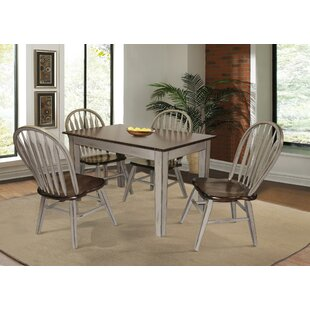 Adalberto 5 Piece Solid Wood Dining Set August Grove