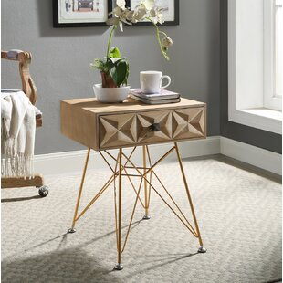Bandit One Drawer Accent Table by Bungalow Rose