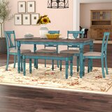 Pleasing Farmhouse Table With Bench Set Wayfair Gmtry Best Dining Table And Chair Ideas Images Gmtryco