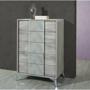 Compare Labombard Italian Modern 5 Drawers Chest by Brayden Studio