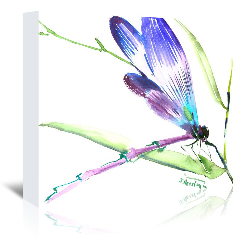 East Urban Home Dragonfly Painting Print On Wrapped Canvas Reviews Wayfair