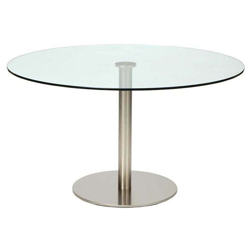 Round Glass Pub Table