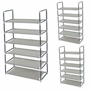 brgge 6 tier shoe rack set of 3